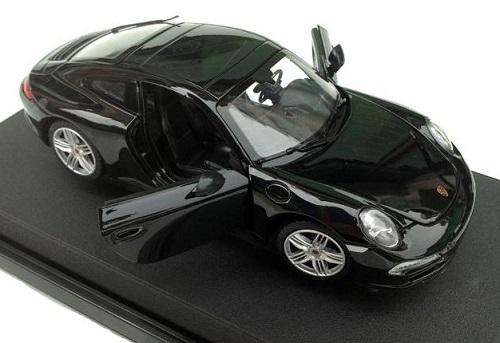 โมเดลรถ โมเดลรถเหล็ก โมเดลรถยนต์ porsche 911 carrera s black 4