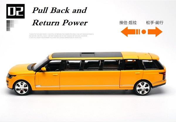 โมเดลรถเหล็ก โมเดลรถยนต์ Land Rover รถยาว 4