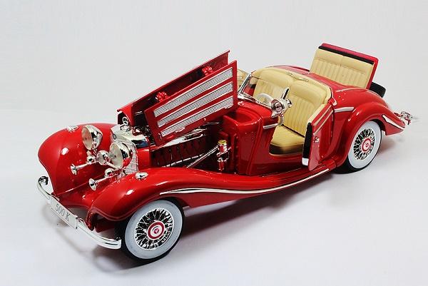 โมเดลรถ โมเดลรถเหล็ก โมเดลรถยนต์ Benz 500K red 4