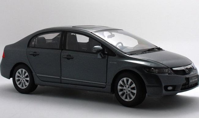 โมเดลรถ โมเดลรถเหล็ก โมเดลรถยนต์ Honda Civic 2009 grey 1