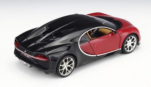 โมเดลรถประกอบ รถเหล็กประกอบ โมเดลรถเหล็กประกอบ, โมเดลรถยนต์ประกอบ Bugatti Chiron red 4