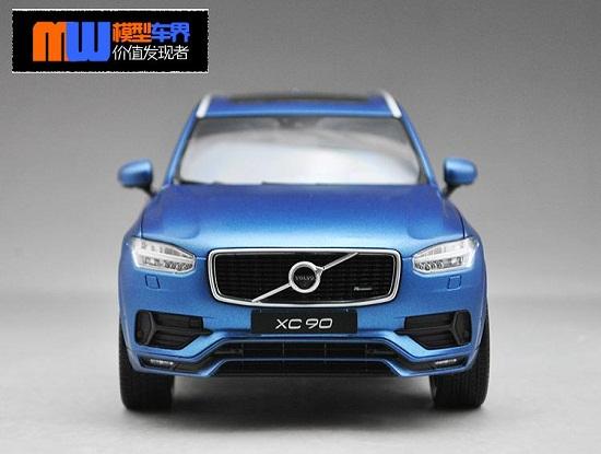โมเดลรถ โมเดลรถเหล็ก โมเดลรถยนต์ Volvo XC90 blue 2015 4