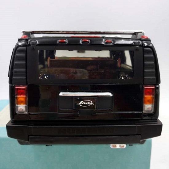 โมเดลรถเหล็ก โมเดลรถยนต์ Hummer H2 black 5