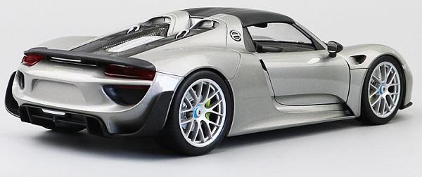 โมเดลรถ โมเดลรถเหล็ก โมเดลรถยนต์ Porsche 918 silver 5