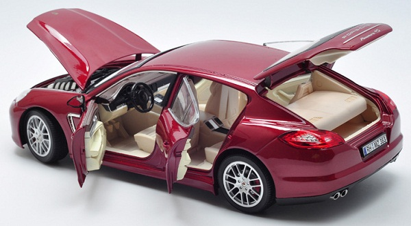 โมเดลรถ โมเดลรถเหล็ก โมเดลรถยนต์ Porsche Panamera red 5