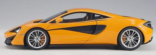 โมเดลรถ โมเดลรถยนต์ โมเดลรถเหล็ก Autoart Mclaren 570S ส้ม 3