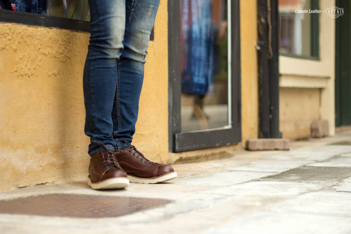 รองเท้าสนีกเกอร์หนัง รองเท้าหนัง Moonlight - สี Dark Brown - CAPTAIN LEATHER