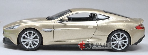 โมเดลรถเหล็ก โมเดลรถยนต์ aston martin vanquish gold 5
