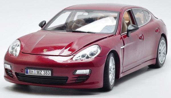โมเดลรถ โมเดลรถเหล็ก โมเดลรถยนต์ Porsche Panamera red 1