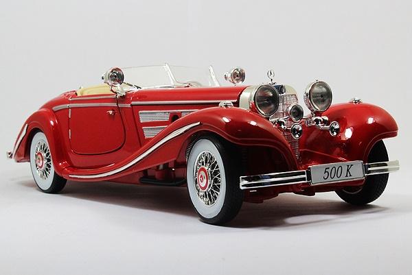 โมเดลรถ โมเดลรถเหล็ก โมเดลรถยนต์ Benz 500K red 1