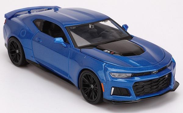 โมเดลรถ รถเหล็ก โมเดลรถเหล็ก โมเดลรถยนต์ 2017 Chevrolet ZL1 blue 2