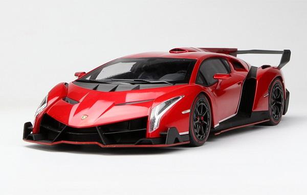 โมเดลรถ โมเดลรถเหล็ก โมเดลรถยนต์ Lamborghini Veneo red 1