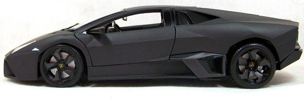 โมเดลรถ โมเดลรถเหล็ก โมเดลรถยนต์ Lamborghini Reventon matte black 3