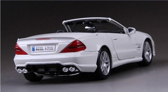 โมเดลรถ โมเดลรถเหล็ก โมเดลรถยนต์ Benz SL 63 amg white 2
