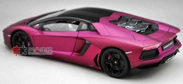 โมเดลรถ โมเดลรถเหล็ก โมเดลรถยนต์ Lamborghini Aventador purple 4