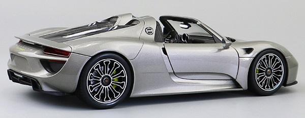 โมเดลรถ โมเดลรถเหล็ก โมเดลรถยนต์ Porsche 918 silver 2