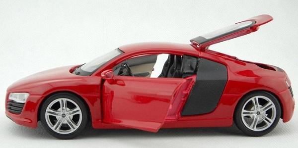 โมเดลรถ โมเดลรถเหล็ก โมเดลรถยนต์ audi r8 red 5