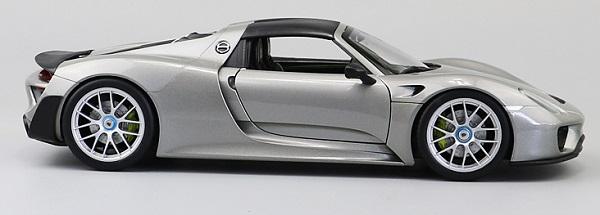 โมเดลรถ โมเดลรถเหล็ก โมเดลรถยนต์ Porsche 918 silver 6