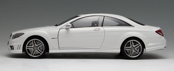 โมเดลรถ โมเดลรถเหล็ก โมเดลรถยนต์ Benz CL63 AMG white 3