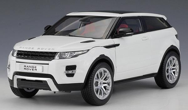 โมเดลรถ โมเดลรถเหล็ก โมเดลรถยนต์ Land Rover Aurora white 1