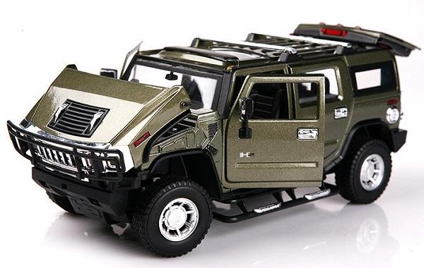 โมเดลรถเหล็ก โมเดลรถยนต์ Hummer H2 army 4