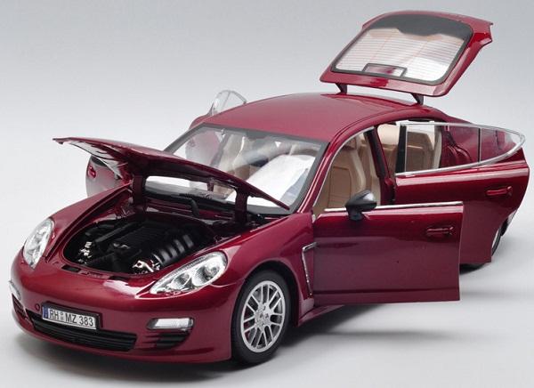 โมเดลรถ โมเดลรถเหล็ก โมเดลรถยนต์ Porsche Panamera red 4