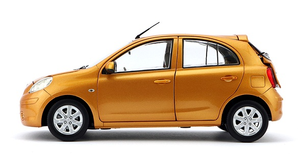 โมเดลรถ โมเดลรถยนต์ โมเดลรถเหล็ก Nissan March orange 3