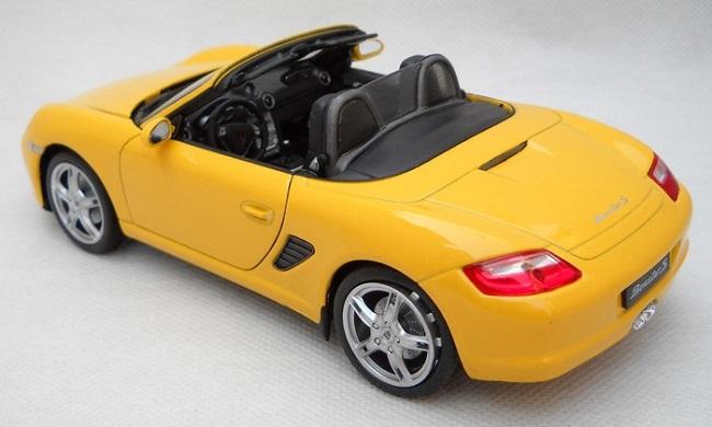 โมเดลรถ โมเดลรถยนต์ โมเดลรถเหล็ก porsche boxster S yellow 2
