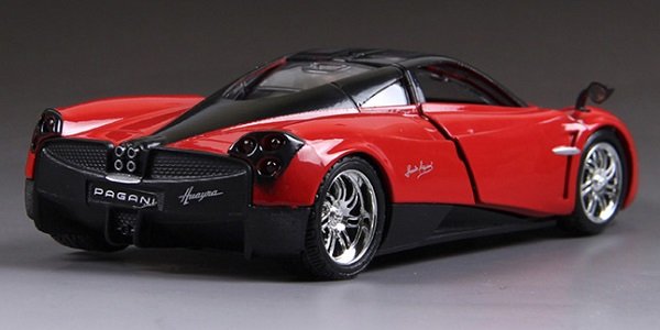 โมเดลรถ รถเหล็ก โมเดลรถเหล็ก โมเดลรถยนต์ Pagani Huayra red 4