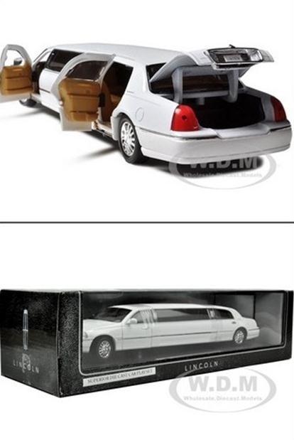 รถเหล็ก รถโมเดล 2003 limousine ขาว