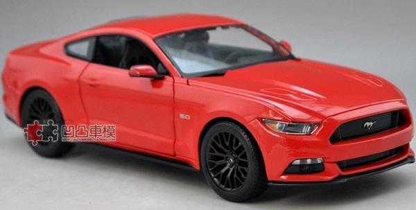โมเดลรถ โมเดลรถเหล็ก โมเดลรถยนต์ Ford Mustang 2015 แดง 2