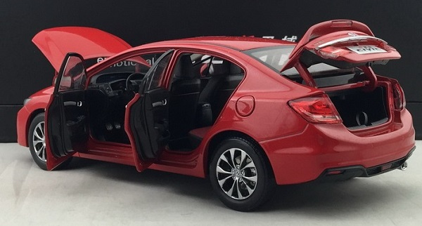 โมเดลรถ โมเดลรถเหล็ก โมเดลรถยนต์ Honda Civic 2014 แดง 4
