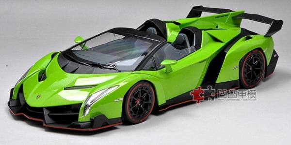 โมเดลรถ โมเดลรถเหล็ก โมเดลรถยนต์ Lamborghini Veneo green 2