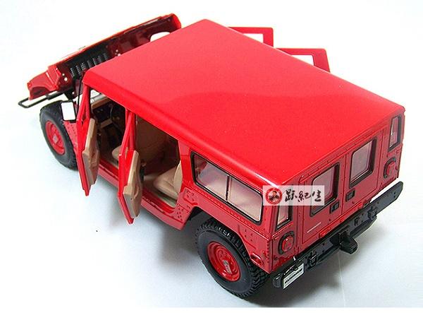 โมเดลรถ โมเดลรถเหล็ก โมเดลรถยนต์ Hummer H1 red 5