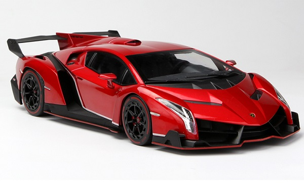 โมเดลรถ โมเดลรถเหล็ก โมเดลรถยนต์ Lamborghini Veneo red 2