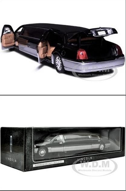 รถเหล็ก รถโมเดล 2003 limousine ดำ