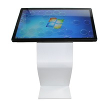 32 inch capacitive touch screen all in one PC advertising K shape kiosk
