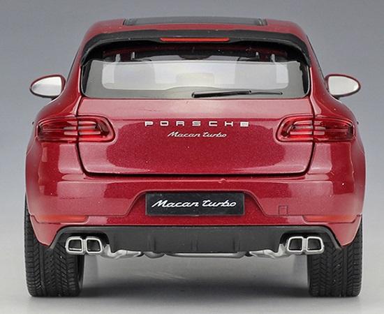 โมเดลรถ โมเดลรถยนต์ โมเดลรถเหล็ก porsche macan red 6