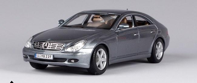 โมเดลรถ โมเดลรถเหล็ก โมเดลรถยนต์ Benz CLS Class silver 1