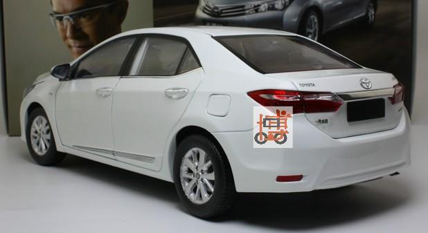 โมเดลรถ โมเดลรถเหล็ก โมเดลรถยนต์ toyota corolla 2014 white 2