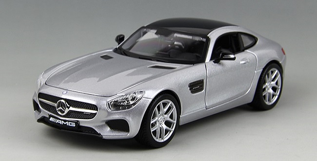 โมเดลรถ โมเดลรถยนต์ โมเดลรถเหล็ก amg gt silver 2