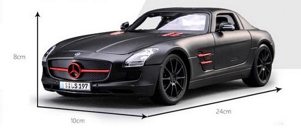 โมเดลรถ โมเดลรถเหล็ก โมเดลรถยนต์ Benz SLS AMG ดำด้าน 1