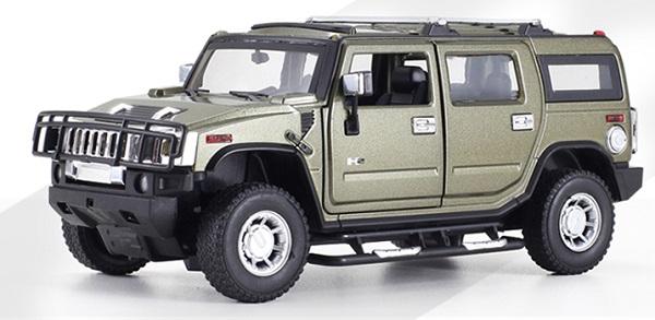 โมเดลรถเหล็ก โมเดลรถยนต์ Hummer H2 army 1