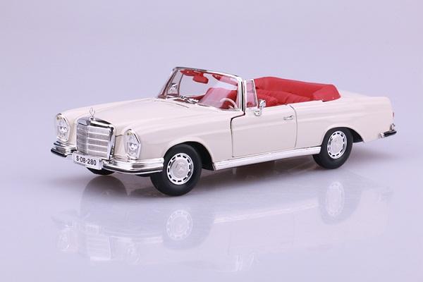 โมเดลรถ โมเดลรถเหล็ก โมเดลรถยนต์ Benz 280SE white 1