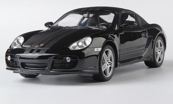 โมเดลรถ โมเดลรถเหล็ก โมเดลรถยนต์ Porsche Cayman S black 1