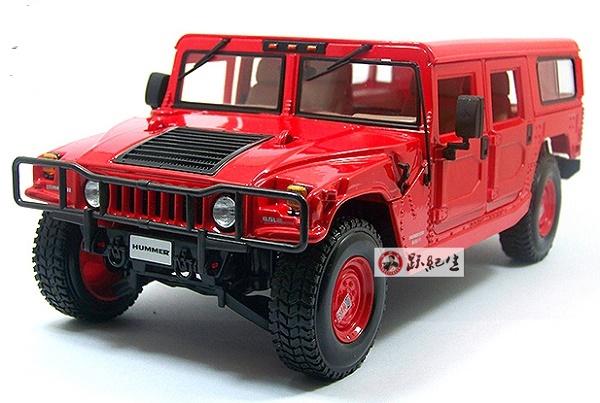โมเดลรถ โมเดลรถเหล็ก โมเดลรถยนต์ Hummer H1 red 1