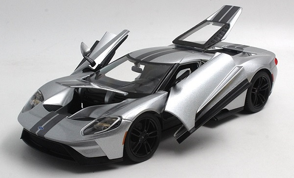 โมเดลรถ โมเดลรถเหล็ก โมเดลรถยนต์ Ford GT 2017 grey 3