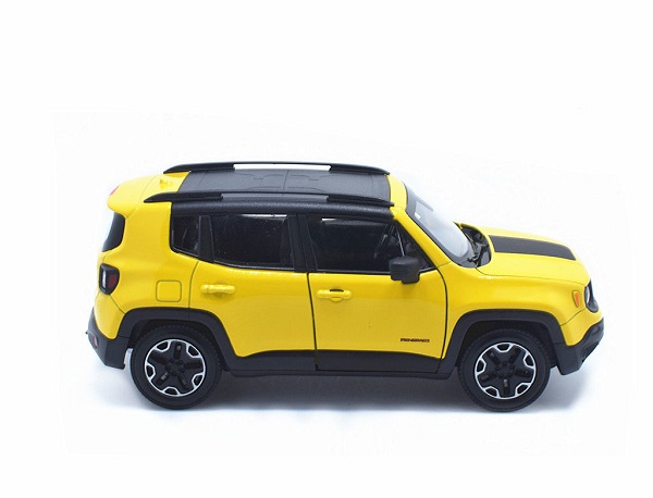 โมเดลรถเหล็ก โมเดลรถยนต์ Jeep Renegade Trailhawk yellow 3