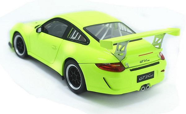 โมเดลรถ โมเดลรถเหล็ก โมเดลรถยนต์ Porsche 911 gt3 green 2