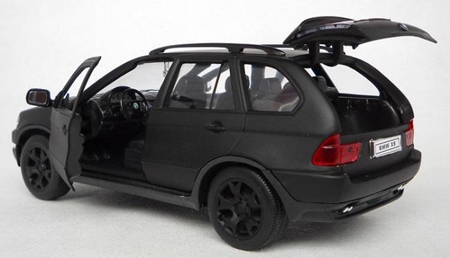 โมเดลรถ โมเดลรถเหล็ก โมเดลรถยนต์ BMW X5 matte black 5